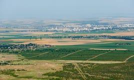 De zomergebied en Yambol-stad Royalty-vrije Stock Afbeeldingen