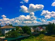De zomergeest Russisch dorp Royalty-vrije Stock Foto's