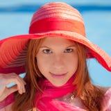 De zomerglimlach Royalty-vrije Stock Fotografie