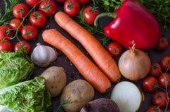 De zomergroenten, ruwe ingrediënten Stock Fotografie