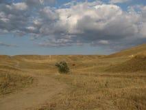 De zomerheuvels van de Krim in de Oekraïne royalty-vrije stock afbeeldingen