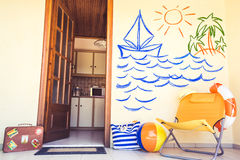 De zomerhuis Stock Foto's