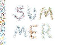 De zomerkaart Stock Foto