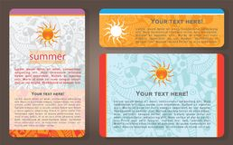 De zomerkaarten Stock Afbeeldingen