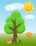 De zomerkader met bloemzon vector illustratie