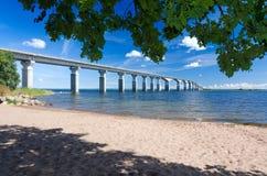 De zomerkader voor de brug van Oland Stock Afbeelding