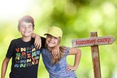 De zomerkamp royalty-vrije stock afbeeldingen