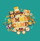 De zomerkamp, vector Royalty-vrije Stock Foto's
