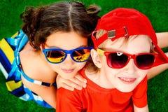 De zomerkinderen royalty-vrije stock foto's