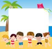 De zomerkinderen Royalty-vrije Stock Foto