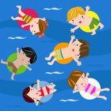 De zomerkinderen Royalty-vrije Stock Afbeeldingen