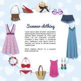 De zomerkleding Stock Afbeeldingen