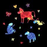 De zomerkleur doodle2 royalty-vrije illustratie
