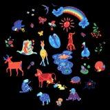 De zomerkleur doodle2 vector illustratie