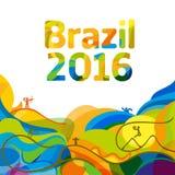 De zomerkleur van Olympisch spelen 2016 behang Stock Afbeeldingen