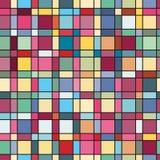 De zomerkleuren, de moderne golf en textuur van mozaïekblokken Gek kleuren naadloos abstract vectorpatroon De stijl van de Bohoma Stock Afbeelding