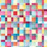 De zomerkleuren, de moderne golf en textuur van mozaïekblokken Gek kleuren naadloos abstract vectorpatroon De stijl van de Bohoma Royalty-vrije Stock Afbeelding