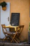 De zomerkoffie van de Provence Stock Afbeeldingen
