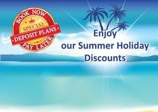 De zomerkortingen voor vakantie vector illustratie