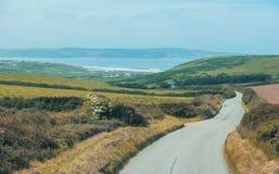 De zomerlandschap in Cornwall, het UK Royalty-vrije Stock Afbeelding