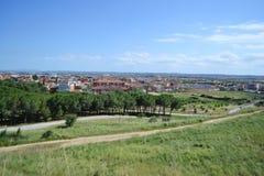 De zomerlandschap dichtbij Figueres Royalty-vrije Stock Foto