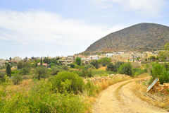 De zomerlandschap in Kreta Stock Afbeeldingen