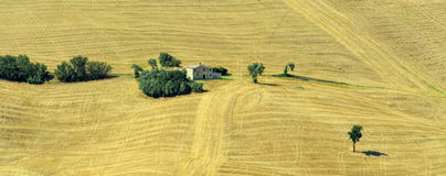 De zomerlandschap in Marsen (Italië) Royalty-vrije Stock Afbeeldingen