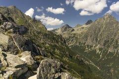 De zomerlandschap van de panoramaberg Tatry slowakije Stock Afbeeldingen