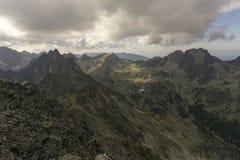 De zomerlandschap van de panoramaberg Tatry slowakije Royalty-vrije Stock Foto