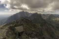 De zomerlandschap van de panoramaberg Tatry slowakije Stock Afbeelding