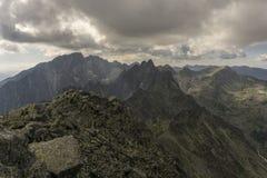 De zomerlandschap van de panoramaberg Tatry slowakije Royalty-vrije Stock Foto's