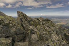 De zomerlandschap van de panoramaberg Tatry slowakije Stock Foto