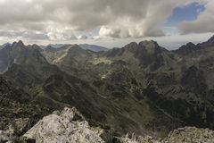 De zomerlandschap van de panoramaberg Tatry slowakije Stock Fotografie