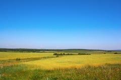 De zomerlandschap van het dorp Royalty-vrije Stock Afbeeldingen