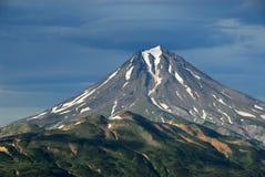 De zomerlandschap van Kamchatka. Rusland. Royalty-vrije Stock Fotografie