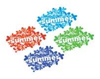 De zomermarkering. Stock Afbeeldingen
