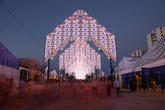 De zomermarkt van Algeciras, Spanje stock afbeelding
