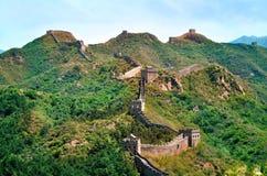 De zomermening over Grote Muur China stock fotografie