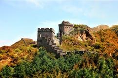 De zomermening over Grote Muur China royalty-vrije stock fotografie