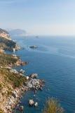 De zomermening van Adriatische zeekust stock foto's
