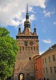 De zomermening van een toren in Sighisoara Royalty-vrije Stock Afbeelding