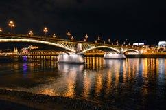 De zomernacht in Boedapest Royalty-vrije Stock Fotografie