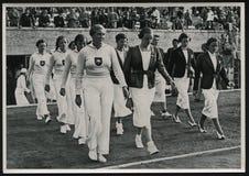 1936 de Zomerolympics Spelen Duitsland Stock Afbeeldingen