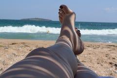 De zomerparadijs bij de Kust van de Zwarte Zee royalty-vrije stock afbeeldingen