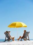 De zomerparaplu van het strand Stock Foto's