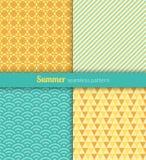 De zomerpatronen Royalty-vrije Stock Afbeeldingen
