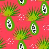 De zomerpatroon met tropisch fruit in zure kleuren Ornament voor textiel en het verpakken stock illustratie