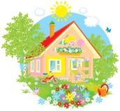 De zomerplattelandshuisje stock illustratie