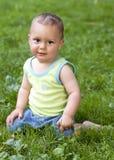 De zomerportret van de baby Royalty-vrije Stock Afbeeldingen