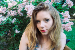 De zomerportret van een model Royalty-vrije Stock Fotografie